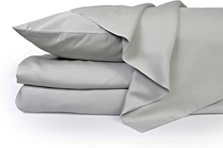 ZENLUSSO Bed Sheet Set Luxury 100% Bamboo Sheets - Hypoallergenic, Deep Pockets, Silky Soft (Grey, Queen)