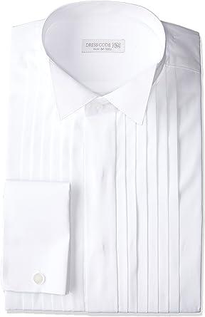[ドレスコード101] ワイシャツ 結婚式・パーティ・おめでたい日に ウィングカラー 長袖シャツ 冠婚葬祭 新郎 ウェディング SHIRT-40XX メンズ