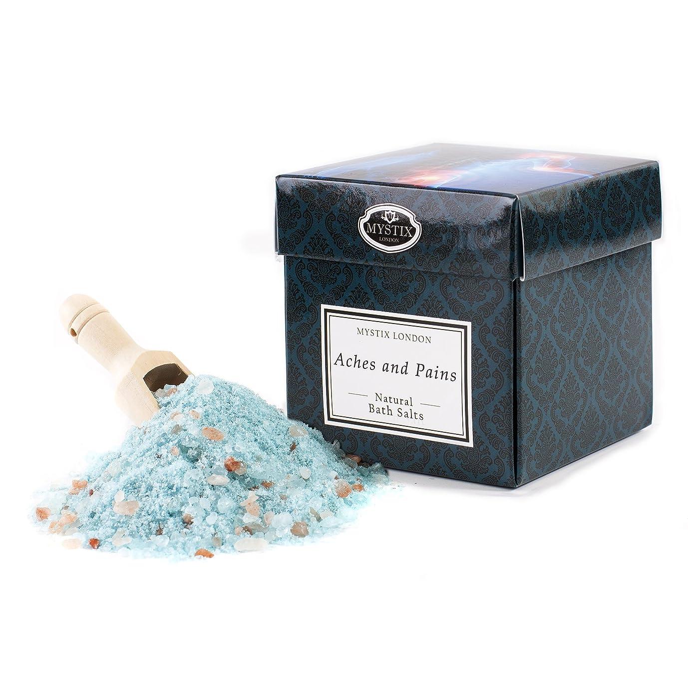 区効能あるいろいろMystix London   Aches & Pains Bath Salt - 350g