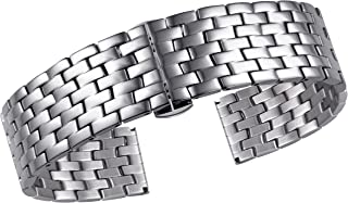 Watch Straps for Women Luxury Watch Replacement Bracelet Small Wrists 316L Solid Stainless Steel Watch Bracelets with Butterfly Clasp