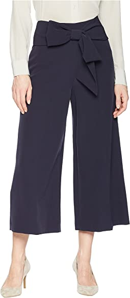Crop Pants with Bow at Waist