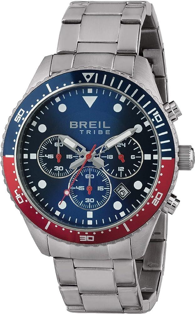 Breil,orologio,cronografo per uomo,in acciaio con lunetta bicolore 7612901734439