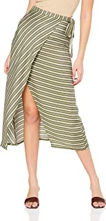 All About Eve Women's Savannah Midi Wrap Skirt