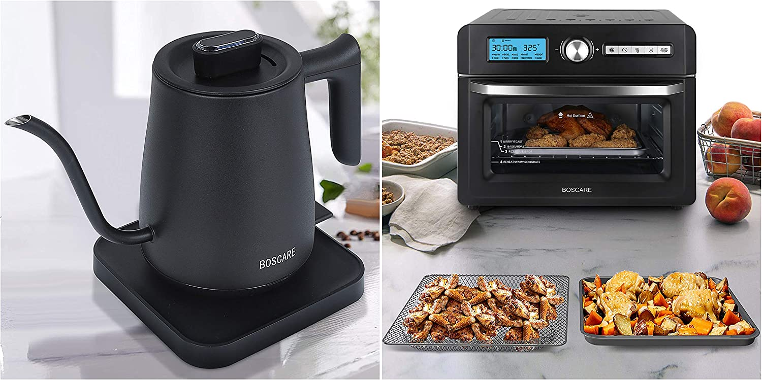 Electric Gooseneck Kettle + air fryer oven toaster 5712 New mail Seasonal Wrap Introduction order
