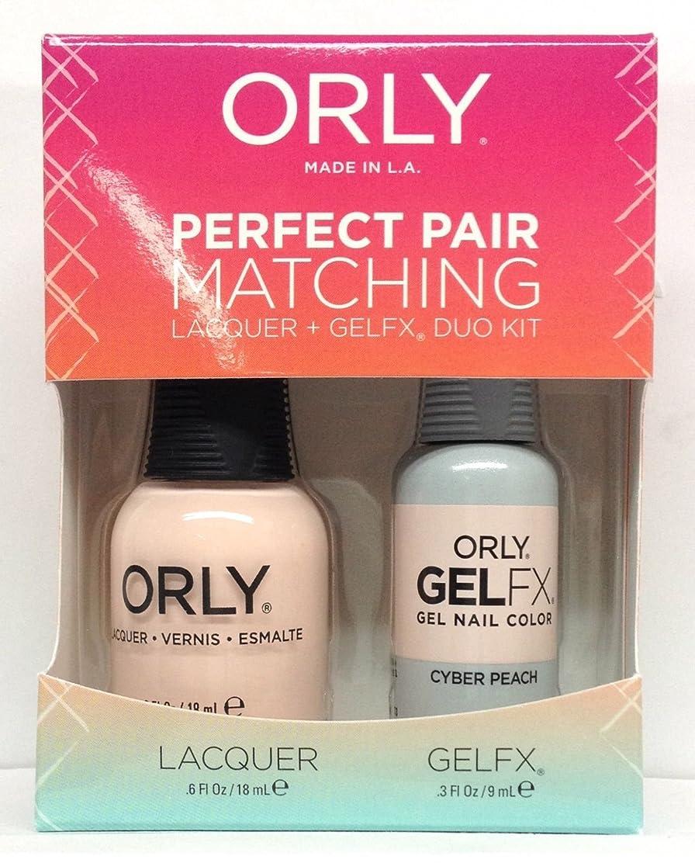 ポーズ推進欠点Orly - Perfect Pair Matching Lacquer+Gel FX Kit - Cyber Peach - 0.6 oz/0.3 oz