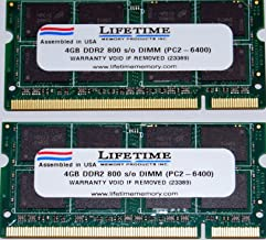 NEW! 8GB (2x4GB) DDR2-800 SODIMM Laptop Memory PC2-6400 for Dell Inspiron 1545