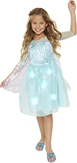 Frozen Elsa Dress Snowflake Sparkle Music and Lights