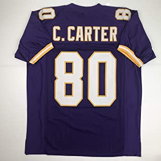 Unsigned Cris Carter Minnesota Purple Custom Stitched Football Jersey Size Men`s XL New No Brands/Logos