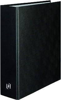 ELBA Classeur Balacron A4XL Dos 80mm 4 Anneaux en D Couverture Carte Rembordée en PVC Noir