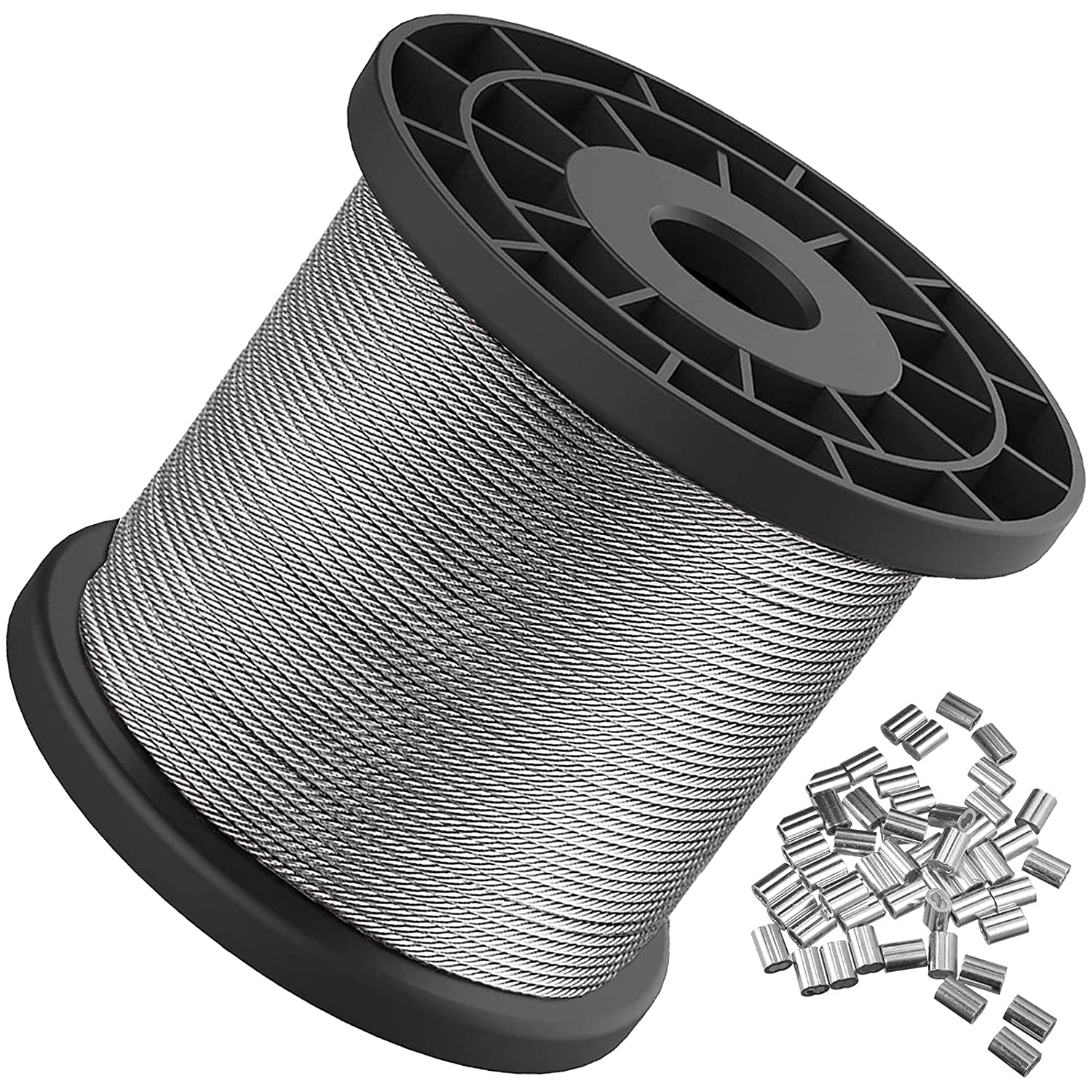 Wire Indefinitely Rope 1 16 Stainless 328FT 5 ☆ popular Cable 304 Steel