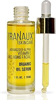 100% Organic Face Oil Serum by TraNaux Skincare - Pure Vitamin E Oil - Reduce Wrinkles, Fine Line, Fades Age Spots, Repair...