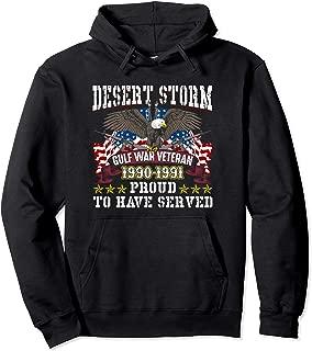 Desert Storm Veteran Hoodie Desert Storm Gulf War 1990-1991.