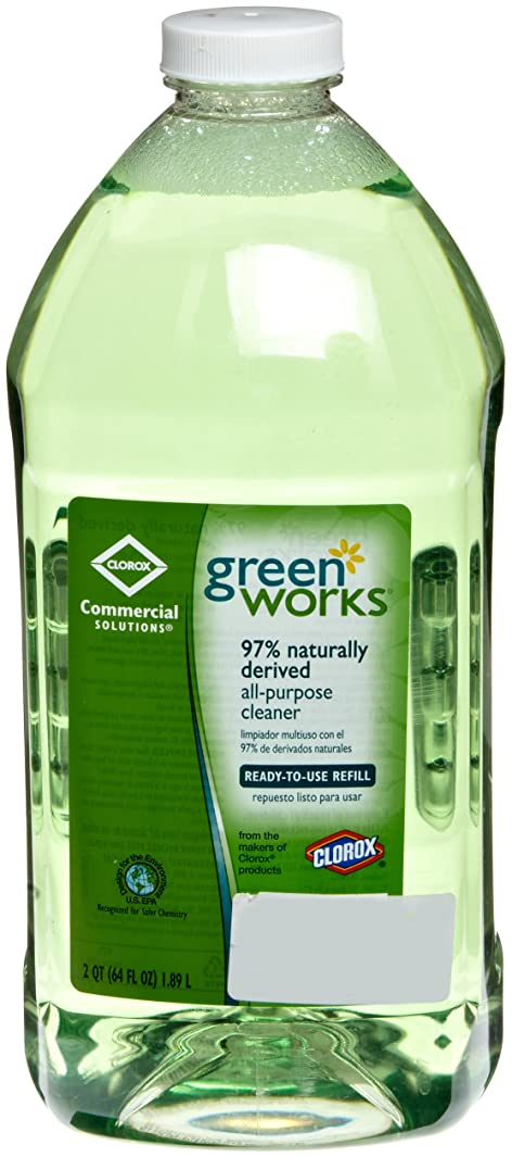 Green Works 00457 Commercial Solutions All Purpose Cleaner, 64 fl oz Refill