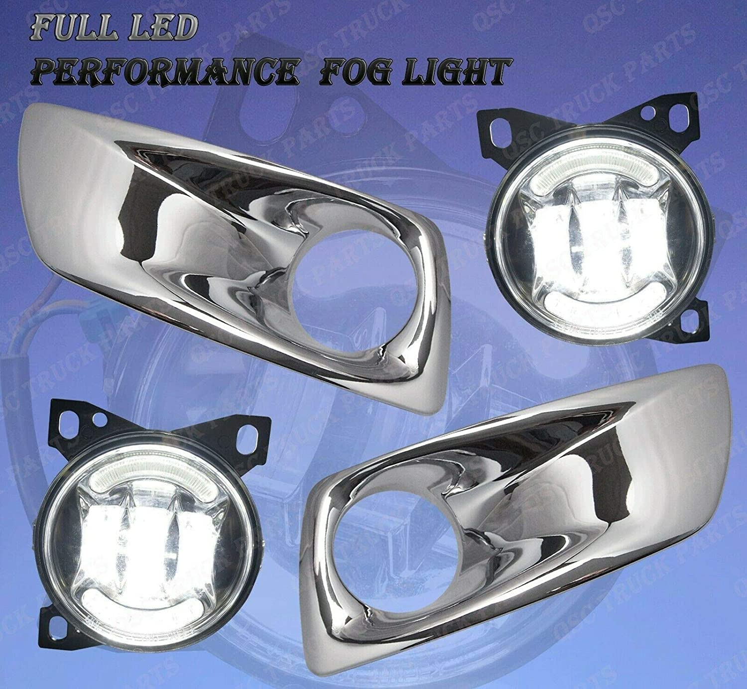 QSC Truck Parts Full New Free Shipping LED Fog Ranking TOP20 Pair w Chro Lights Lamps Arches