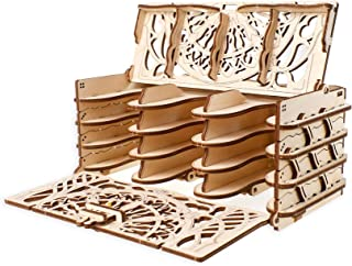 Ugears Wooden Card Holder for Board Games, DIY, Best Playing Card Holder for Self Assembling
