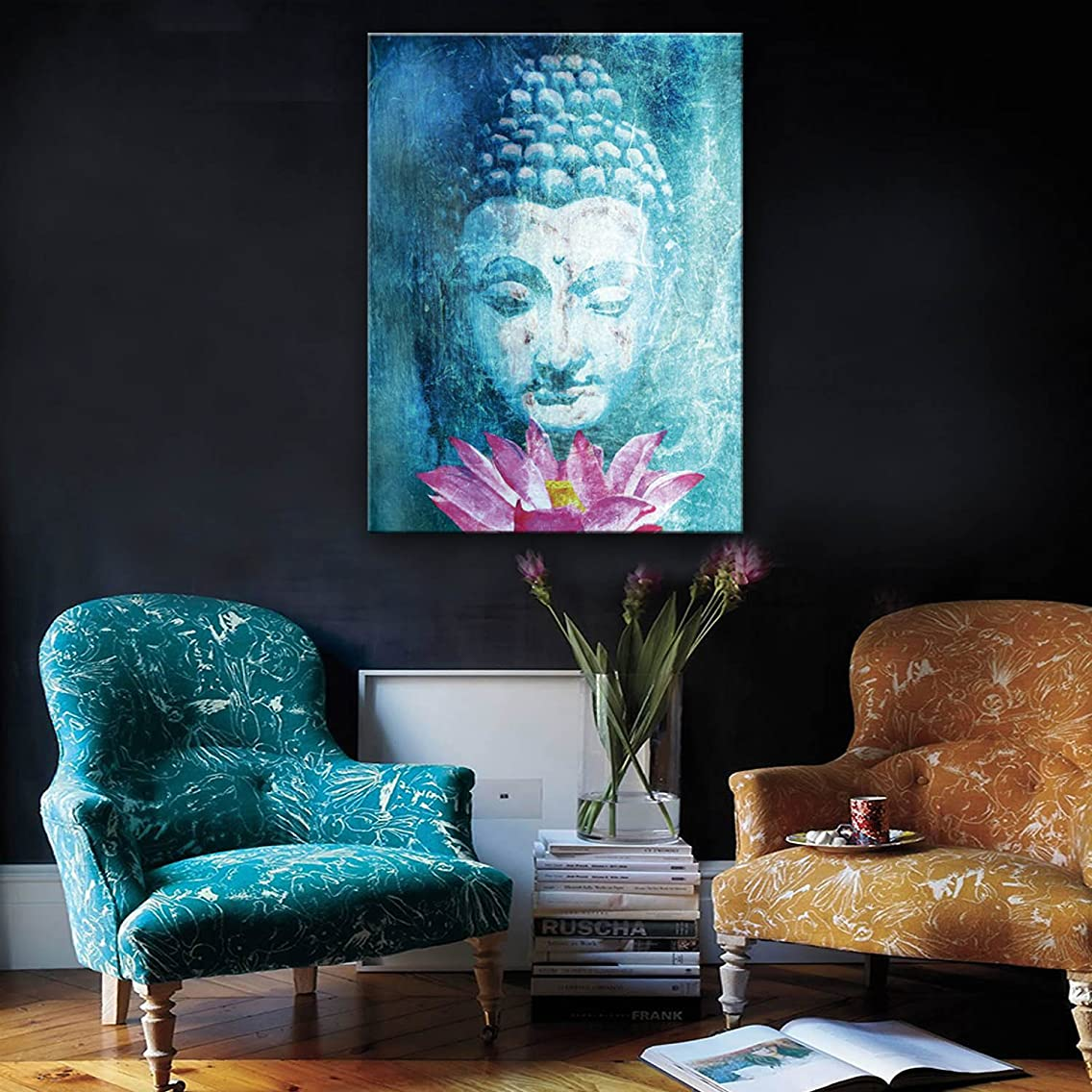 Stretched Canvas Art Buddha And Lotus Decoration Painting One Pcs (5070CM)