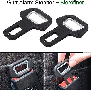 Universal 2* Auto Sicherheitsgurte Verstellbar Stopper Gurtschloss Stecker Clamp