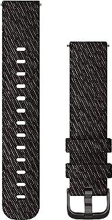 Garmin horlogeband, geweven nylon, 20mm, zwart.