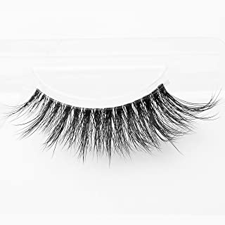 Arimika Long Wispy 3D Mink Fake Eyelashes -Reusable with Clear Invisible Flexible Band, Lightweight Fluffy Natural Look,D844