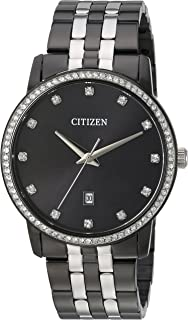 Citizen Men`s ` Quartz Stainless Steel Casual Watch, Color:Black (Model: BI5037-52E)