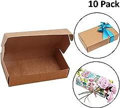 Kurtzy Kraft Papel Cajas de Regalo (Pack de 10) -19 x 11 x 4.5cm Marrón Cajas de Presentación en Empaque Plano para Fiestas, DIY, Bodas, Pasteles, Joyas - Cajas del favor Regalos para Hogar y Tiendas