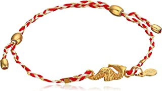 Alex and Ani Seahorse Expandable Red 14k Bracelet