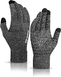 Best Winter Gloves for Men and Women - Upgraded Touch Screen Anti-Slip Silicone Gel - Elastic Cuff - Thermal Soft Wool Lining - Knit Stretchy Material Reviews
