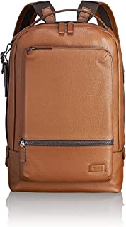 TUMI - Harrison Bates Leather Laptop Backpack - 14 Inch Computer Bag for Men and Women - Umber Pebbled