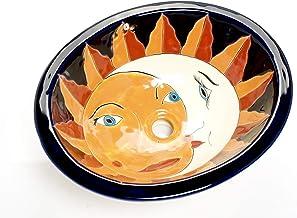 Juanita - Mexicaanse Talavera wastafel - keramiek | inbouwwastafel 44,5 x 36 x 13 cm | ovale wastafel voor woonkamer, toil...