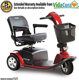 Pride Victory 10 3-Wheel Heavy Duty Scooter w/Avail ext warr (Red)