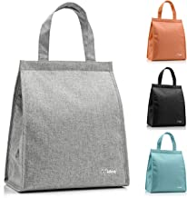 Lunch Bag for Men & Women, (Black Friday Specials) CCidea Simple Waterproof Insulated Large Adult Lunch Tote Bag (Grey)