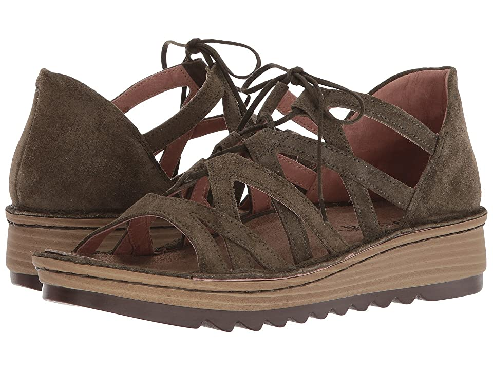 Naot Yarrow (Oily Green Olive Suede) Women