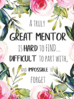 A truly great mentor is hard to find POSTER A3 Amazing Mentor Appreciation Gift School Tutor Print