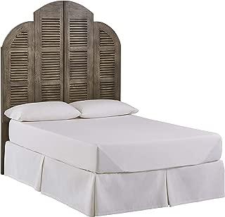 Stone & Beam Lyla Rustic Slat Bed Headboard - Queen, 64 Inch, China Gray