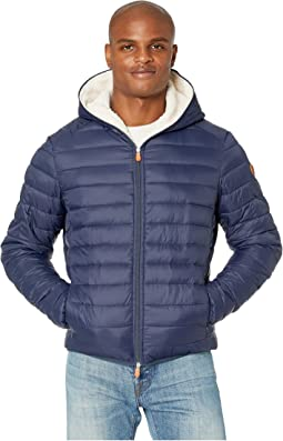 Giga 9 Hoodie Puffer Jacket with Sherpa Lining