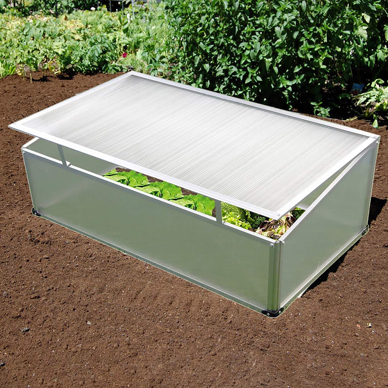 Vivero con marco de aluminio, 100 x 60 x 40 cm de policarbonato Vivero (Buzón Invernadero: Amazon.es: Jardín