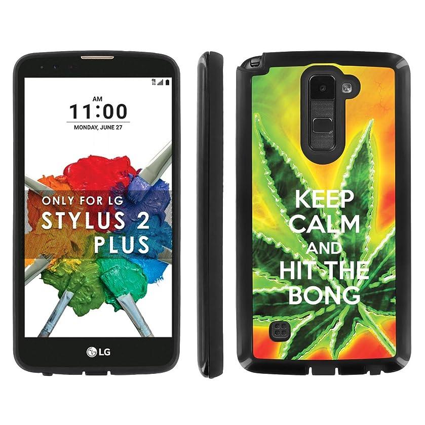 LG [G Stylo 2 PLUS][G Stylus 2 PLUS] Phone Cover, Keep Calm Hit the Bong- Black Shell Shock Phone Case for LG G STYLUS 2 PLUS
