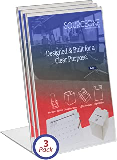 SourceOne (3-Pack) 5 X 7 Sign Holder Slant Back/Clear/Ad Frame