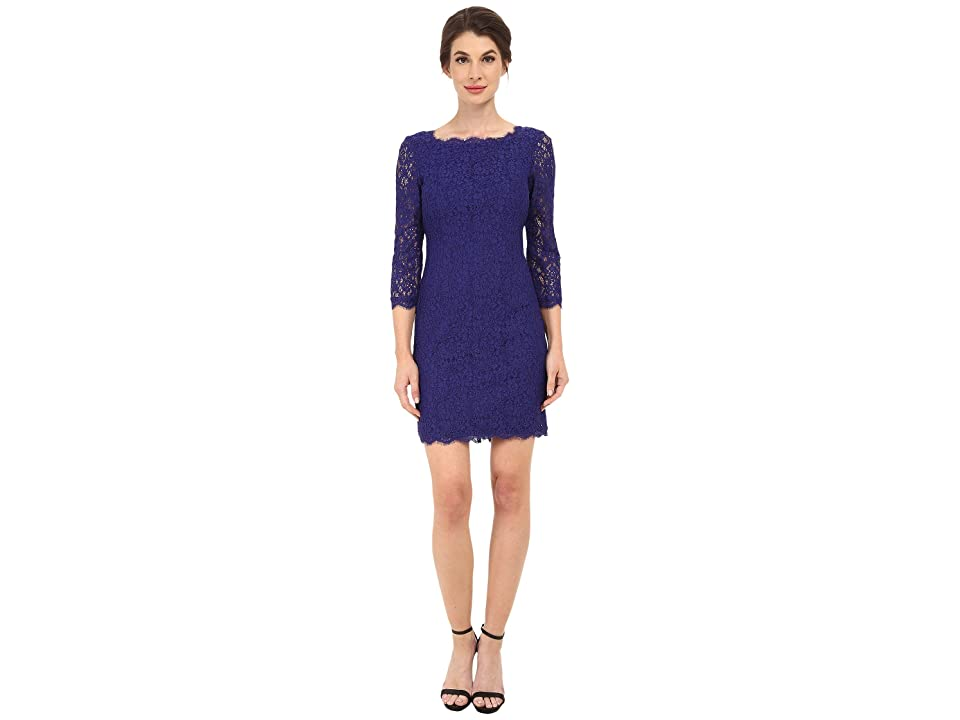 Adrianna Papell L/S Lace Dress (Neptune) Women