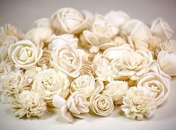 Sola Wood Flowers Skinless Mini Flower Assortment Pack Of 50