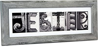 Creative Letter Art Personalized Sign Black and White Architecture from Original Alphabet Photograph Letters for Wedding, Personalized Gifts, Graduation, Anniversary, Baby Name
