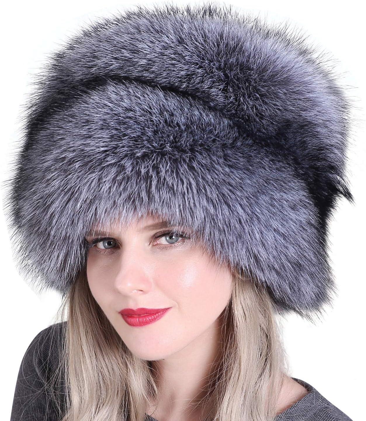 TININNA Cappello da Donna in Pelliccia in Stile Russo Cappello Cosacco Cappellini Invernali