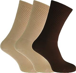 Severyn, Calcetines extra anchos cómodos para diabéticos para mujer (3 pares)