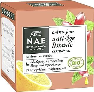 N.A.E. - Crème Visage Jour Anti-Rides - Certifiée Bio - Huile d'Eglantier Bio et Extrait d'Ecorce d'Orange Bio - 98% d'ing...