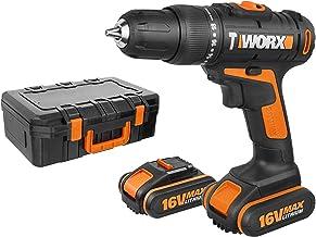WORX WX385.1 Taladro Percutor 16V 2Ah 2bat, Negro