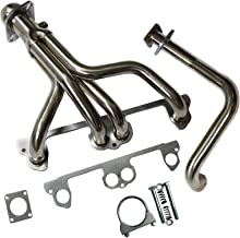 Stainless Steel Exhaust Manifold Header System Kit Fit For Jeep Wrangler YJ 91-95 2.5L L4