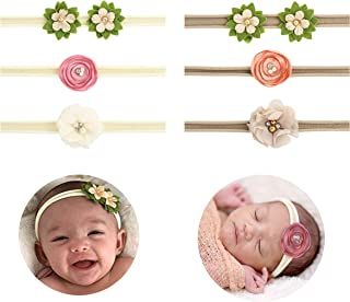 Baby Girl Headband Set- Assorted Headbands Bows Flowers For Newborn Infant Toddlers Kids