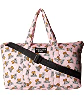 Moschino Kids - Teddy Bear Logo Print Diaper Bag w/ Changing Mat
