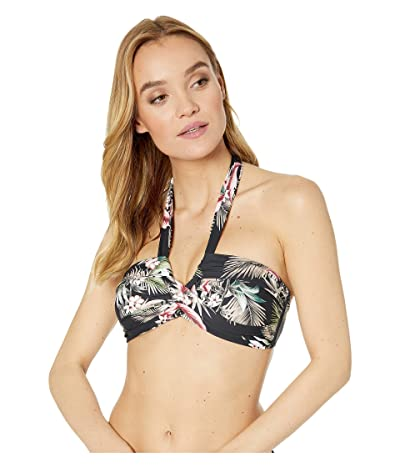 Seafolly Ocean Alley Twist Front Bandeau Bikini Top (Black) Women