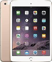 Apple iPad Mini 3 64GB 4G + Wi-Fi Unlocked GSM 4G LTE w/Siri & TouchID, Gold (Renewed)
